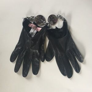 Juicy Couture Leather Moto Gloves